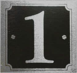 Black Stick on Door Numbers 8cm x 8cm